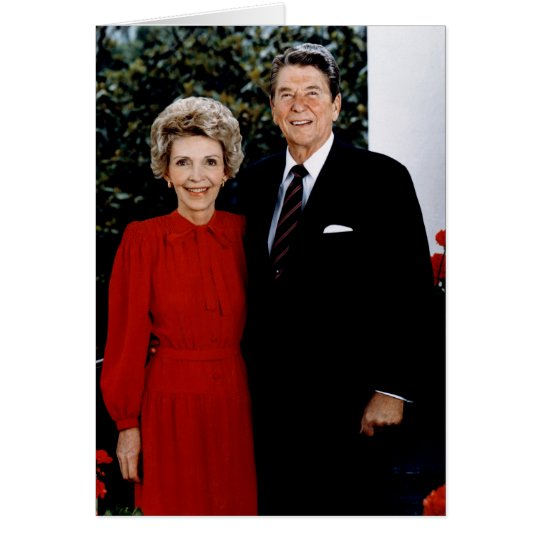 1985 Ronald and Nancy Reagan Card