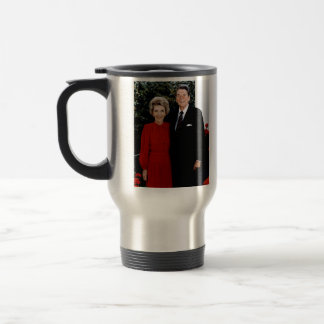 1985 Ronald and Nancy Reagan 15 Oz Stainless Steel Travel Mug