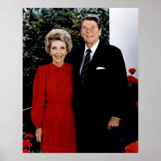 1985 Ronald and Nancy Reagan Poster