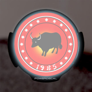 1985 Year of the Ox LED Car Decal