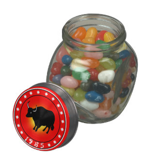 1985 Year of the Ox Jelly Belly Candy Jars