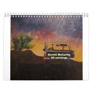 1986-32x24-Oil on Wood Panel-The Pickup Dennis Calendar