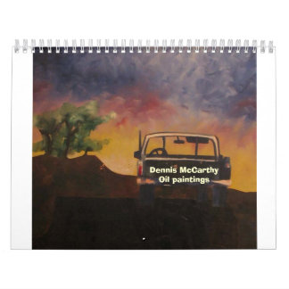 1986-32x24-Oil on Wood Panel-The Pickup, Dennis... Calendar