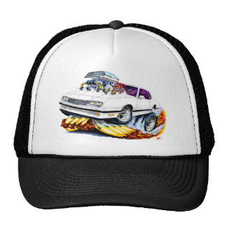 1986-88 Monte Carlo White-Black Car Trucker Hat