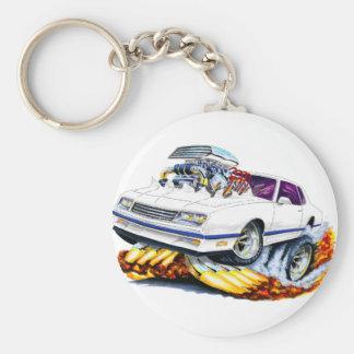 1986-88 Monte Carlo White-Blue Car Basic Round Button Keychain