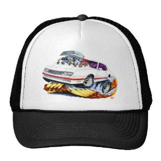 1986-88 Monte Carlo White-Red Car Trucker Hat