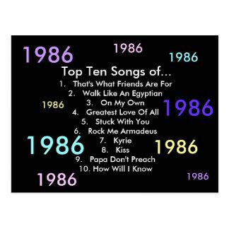 1986 canciones postal