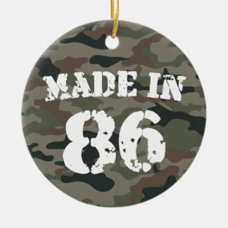 1986 Made In 86 Double-Sided Ceramic Round Christmas Ornament