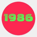 1986 PEGATINA REDONDA
