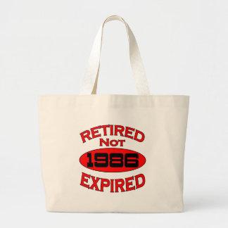 1986 Retirement Year Large Tote Bag