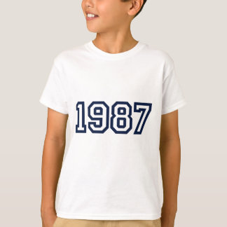 1987 birth year T shirt