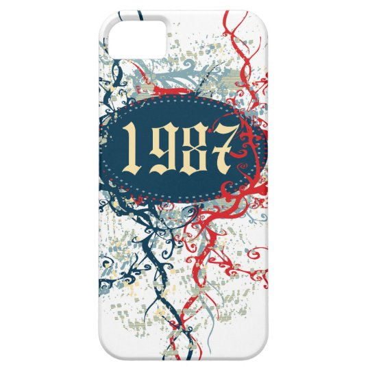 1987 Birthday Year or Since 1987 or Made in 1987 iPhone SE/5/5s Case