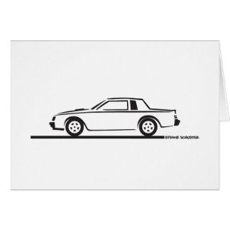 1987 Buick Grand National Greeting Card