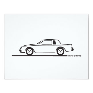 1987 Buick Grand National Personalized Invites