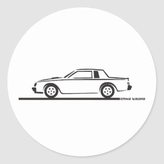 1987 Buick Grand National Stickers