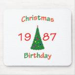 1987 Christmas Birthday Mouse Pad