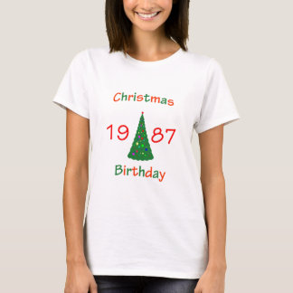 1987 Christmas Birthday T-Shirt
