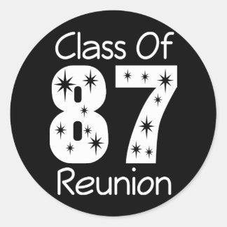 1987 Class Reunion Stickers