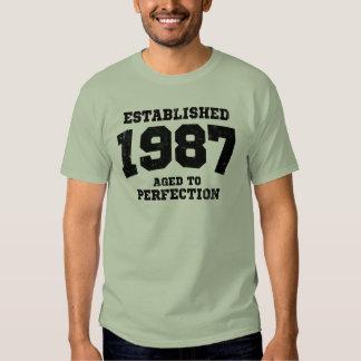 1987 establecidos envejecidos a la perfección remeras