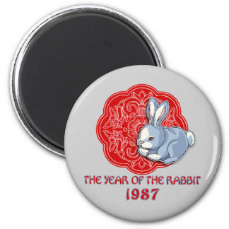 1987 The Year of the Rabbit Gifts 2 Inch Round Magnet