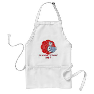 1987 The Year of the Rabbit Gifts Adult Apron
