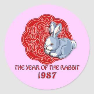 1987 The Year of the Rabbit Gifts Sticker