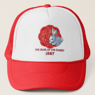 1987 The Year of the Rabbit Gifts Trucker Hat