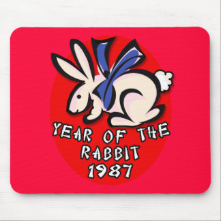 1987 Year of the Rabbit Apparel and Gifts Mouse Pad