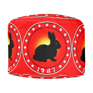 1987 Year of the Rabbit Pouf