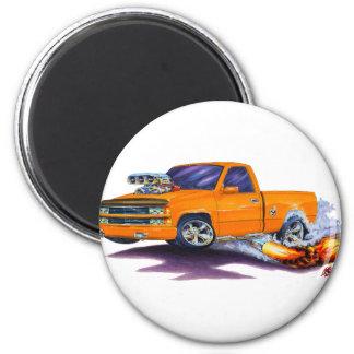 1988-98 Silverado Orange Truck 2 Inch Round Magnet