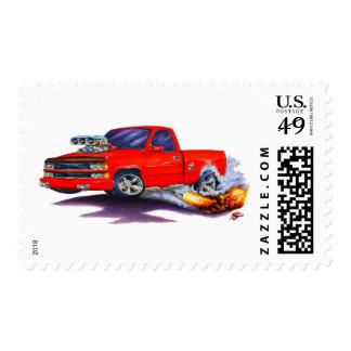 1988-98 Silverado Red Truck Postage Stamp
