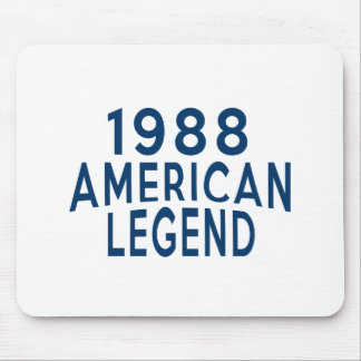 1988 American Legend Birthday Designs Mouse Pad