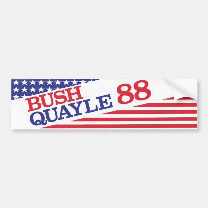 1988 Bush Quayle /'88 Bumper Sticker