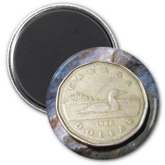 1988 Canadian Loonie Magnet