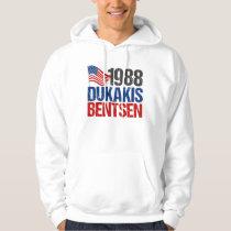 1988 Dukakis Bentsen Vintage Election Hoodie