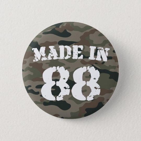 1988 Made In 88 Pinback Button