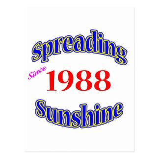 1988 soles de extensión postales