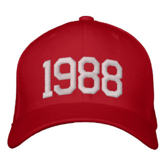 1988 Year Embroidered Baseball Hat