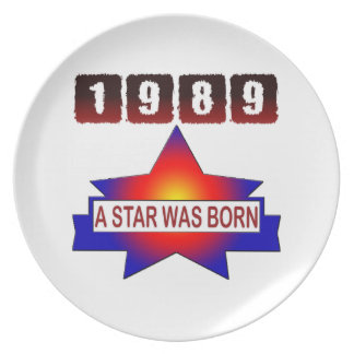 1989 A Star Was Born Party Plates