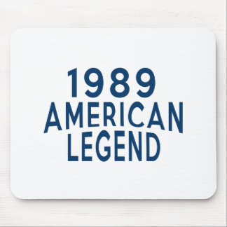 1989 American Legend Birthday Designs Mouse Pad