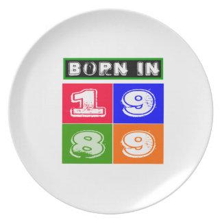 1989 Birthday Designs Dinner Plates