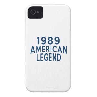 1989 diseños del cumpleaños de la leyenda del Case-Mate iPhone 4 funda