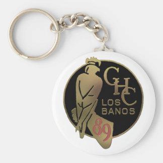 1989 Los Banos Basic Round Button Keychain