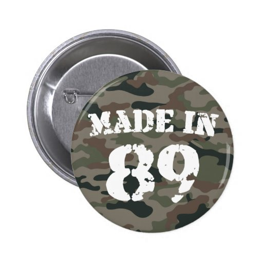 1989 Made In 89 Pinback Button