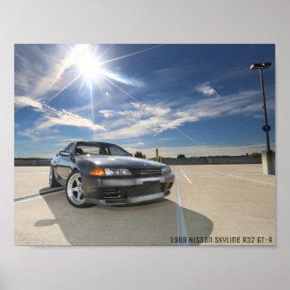 1989 NISSAN SKYLINE R32 GT-R Poster