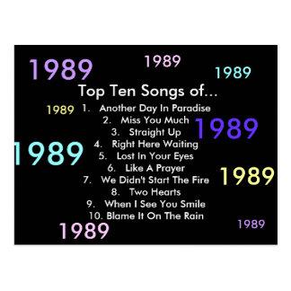 1989 Songs Post Card