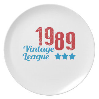 1989 vintage leaque party plate