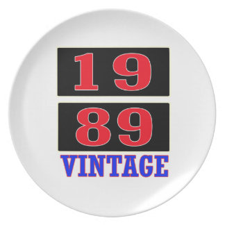 1989 Vintage Party Plate