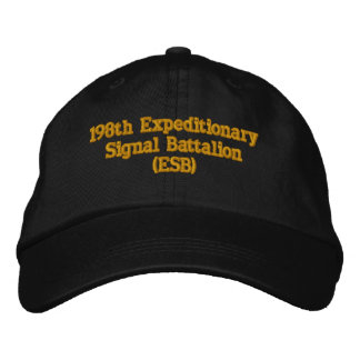 198th Expeditionary Signal Battalion (ESB) Embroidered Hats