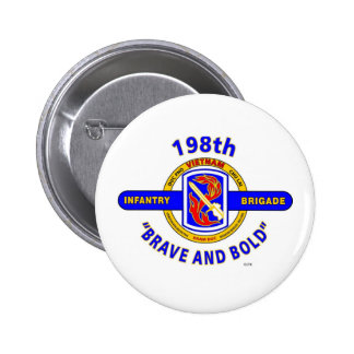 """198TH INFANTRY BRIGADE """"BRAVE AND BOLD"""" VIETNAM BUTTON"""